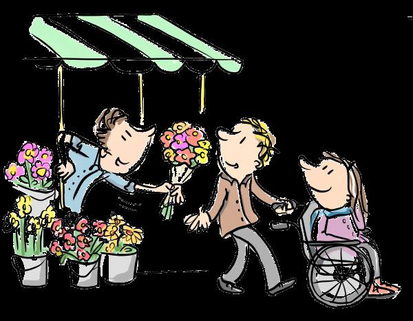 mantelzorger krijgt bloemen